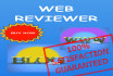 review your Website PROFESSIONALLY and post Comment in Blog or Video
