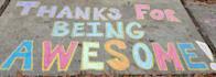 write your message with sidewalk chalk