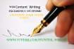 write 100 percent unique web content