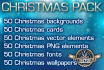 send you a Christmas pack of 300 elements, cliparts
