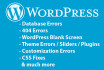fix your wordpress errors and customization