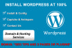 install Wordpress, config and optimize