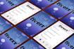 design an ios7 style double sided business CARD