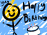 sing happy birthday acoustic style and add a msg