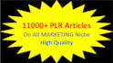 give you over 11,000 Marketing related PLR articles