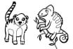 draw a crisp clean cartoon or animal