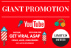 make your Youtube Channel or Video Super Popular Social Media Promotion