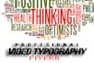 crear un video TYPOGRAPHY profesional avanzado