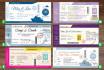 design boarding pass invite