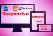 convert a PSD to html and Bootstrap fully responsive