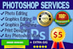 do any Photoshop and Graphics Designing work in 24 hours