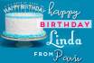send a personalised Birthday Card from Paris