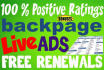 post you 10 percent live posts on backpage