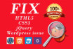 fix your html, css, jQuery and Wordpress issues