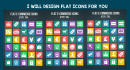 design awesome Flat Icons