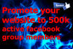 promote your website to 500k active facebook group members