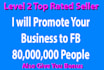 promote your business to 80M plus Users on Facebook