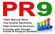 create manually 40 PR9  profile backlinks in 24 hours