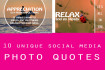 design 10 customized social media photo quotes