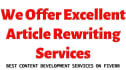 rewrite any 3 PLR articles in any niche for you,