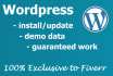 install Wordpress on your hosting in less than 12 hours
