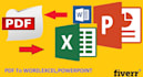 convert PDF or jpg to Word or Excel