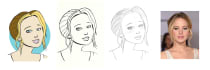 draw a cartoon portrait by hand