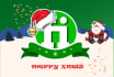 design a Santa hat for your logo or profile picture