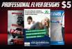 do Flyer design, Poster, Brochure, Postcard, Banner