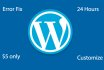 fix your WordPress Issues Or WordPress Bugs