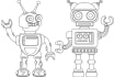 create a robot character and others
