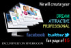create a Fan Page of your company