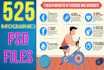 send you 166 INFOGRAPHICS in editable psd and jpeg
