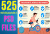 send you 525 INFOGRAPHICS in editable psd and jpeg
