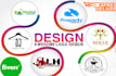 do logo design visiting cards brochure design