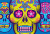 make a sugarskull composition with your logo