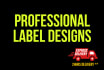 design a label within 24hrs