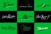 design simple and graceful signature logo