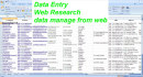 do any kind of data entry work and web research