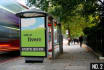 put your banner on a eye catching bus stop billboard