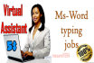 do Data entry copy paste and Web Research any task