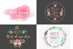 design your amazing water color feminine floral logo
