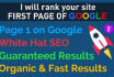 rank your site to google first page