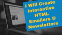 create Responsive   E mailers, Newsletters and Websites