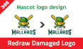 vectorize, trace and redraw Logo or Graphics