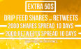 boost you URL with 300 facebook shares and 300 twitter retweets