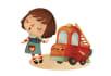 create cute children book illustration
