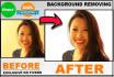 photoshop, remove,  change, transparent Background 20 images