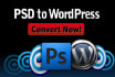 convert Psd or Html to Responsive WordPress Website