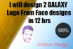 design 2 GALAXY Logo  From Face designs in 12 hrs